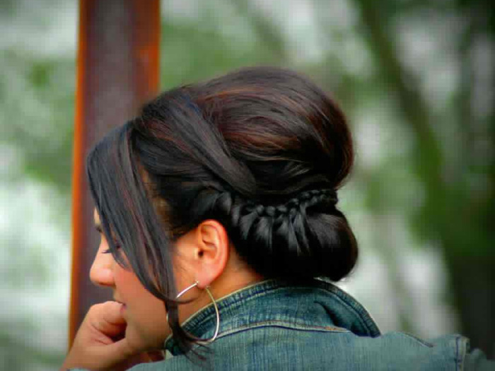 Brunette Hair With Up Do